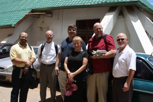 our team outside the Hope church where we have spent the last two days